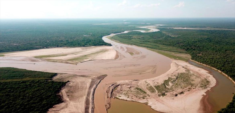 Después de años, el Pilcomayo ingresa en época de aguas bajas.