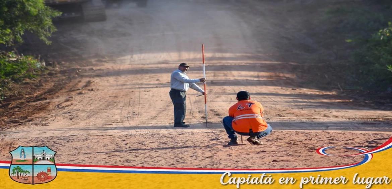 Iniciamos obra de pavimentación asfáltica entre Naranjaty (Capiatá) con Costa Fleitas (Areguá).