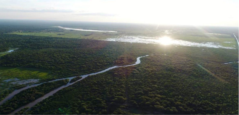 Así se ve el Río Pilcomayo en la zona de Gral. Díaz.